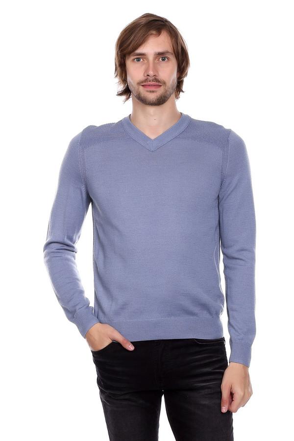 Джемпер PezzoДжемперы и Пуловеры<br>Джемпер Pezzo серо-голубого оттенка. Строгий и простой – так мы можем описать это изделие.  V-образ ный вырез горловины дает возможность оставлять шею свободной, что так часто ценят мужчины или комбинировать данную вещь с подходящей рубашкой. Возможность здесь просто безграничны! Состав: шерсть, акрил.