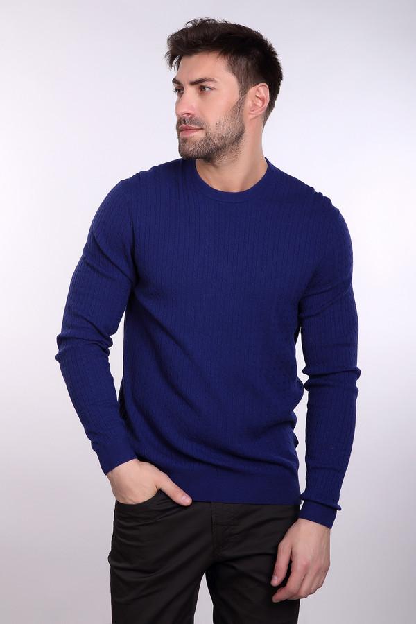 Джемпер PezzoДжемперы и Пуловеры<br>Мужской джемпер от бренда Pezzo ярко-синего оттенка. Тоненькие вертикальные косички визуально стройнят, делая вас к тому же выше. Необходимая вещь в мужском гардеробе. Состав: шерсть, вискоза, полиамид.<br><br>Размер RU: 48<br>Пол: Мужской<br>Возраст: Взрослый<br>Материал: полиамид 35%, вискоза 46%, шерсть 19%<br>Цвет: Синий
