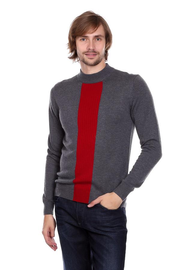Джемпер PezzoДжемперы и Пуловеры<br>Джемпер Pezzo серо-красный. Модель достаточно небанальная и даже можно сказать – оригинальная. Яркая резинка спереди изделия выглядит очень стильно. Хотите всегда быть в тренде? Такой джемпер будет для вас отличным решением. Состав: шерсть, вискоза, полиамид. Хорошо сочетается с джинсами и более строгими брюками.