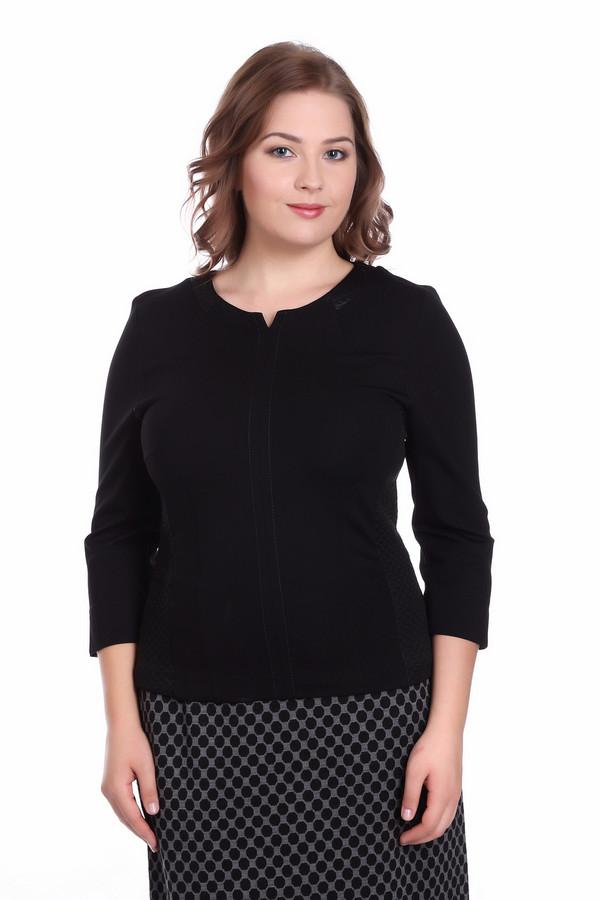 Пуловер SteilmannПуловеры<br><br><br>Размер RU: 42<br>Пол: Женский<br>Возраст: Взрослый<br>Материал: эластан 5%, вискоза 33%, полиэстер 62%<br>Цвет: Чёрный