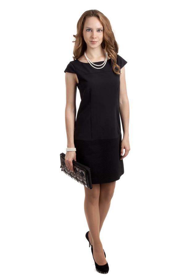Вечернее платье SIR OliverВечерние платья<br>Стильное женское платье-футляр черного цвета, от бренда SIR Oliver. С коротким рукавом и вырезом-лодочкой. Это платье черного цвета, длиной до колена и застежкой на спине. Платье приталенное и пошито из полиэстера с добавлением эластана.<br><br>Размер RU: 40<br>Пол: Женский<br>Возраст: Взрослый<br>Материал: эластан 5%, полиэстер 95%<br>Цвет: Чёрный