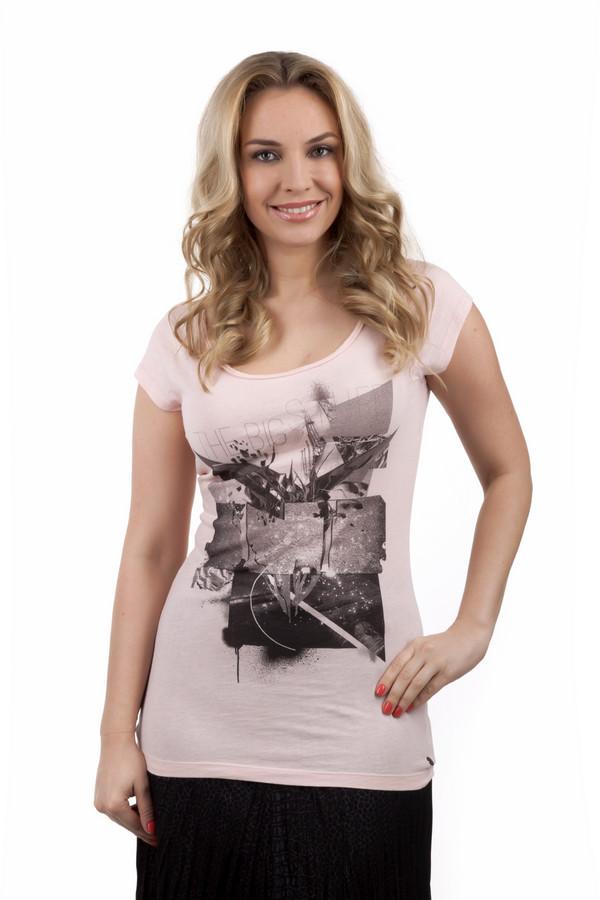 Футболка QSФутболки<br>Нежно розовая футболка от бренда QS с фантастически-урбанистическими рисунками на груди. Изделие дополнено: u-образным вырезом и короткими рукавами. Идеально сочетается с  джинсами  и дополняет спортивный стиль.<br><br>Размер RU: 38-40<br>Пол: Женский<br>Возраст: Взрослый<br>Материал: хлопок 100%<br>Цвет: Розовый