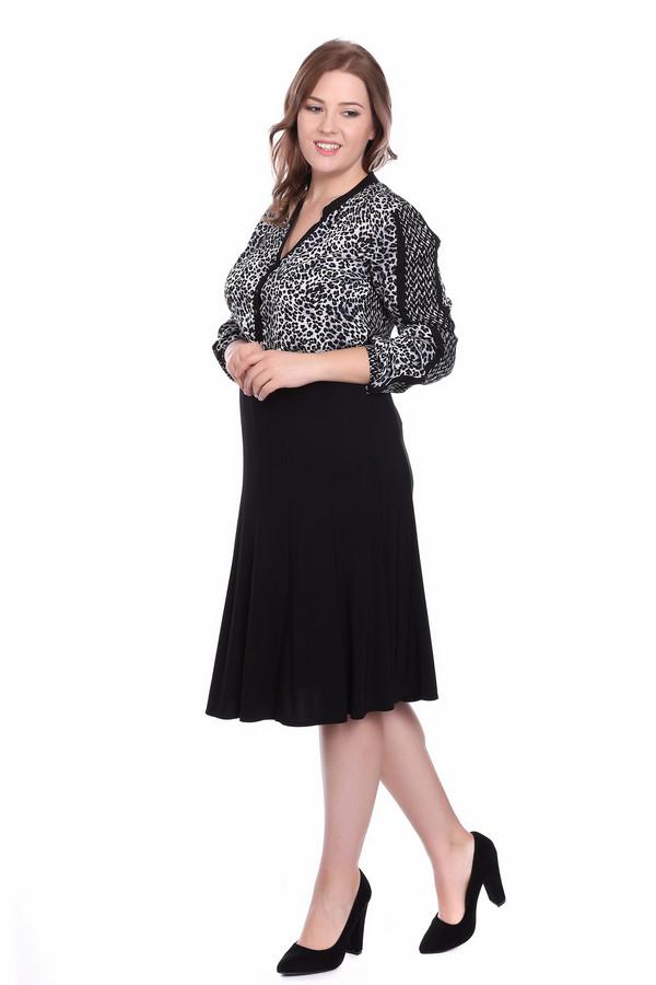 Блузa Betty BarclayБлузы<br>Женственная демисезонная блуза модной леопардовой расцветки в классических белых и черных цветах. Блузу можно носит навыпуск или заправленной, с юбкой или брюками она будет смотреться одинаково эффектно. У блузы V-образный вырез, вверху выреза маленький воротник-стойка, внизу – планка с пятью черными пуговицами. По рукаву выполнен другой рисунок, выделенный двумя черными полосками, спинка с точно таким же рисунком. Блуза мягкая и уютная, поскольку полностью пошита из вискозы.<br><br>Размер RU: 44<br>Пол: Женский<br>Возраст: Взрослый<br>Материал: вискоза 100%<br>Цвет: Разноцветный