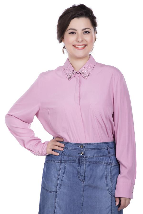 Блузa Betty BarclayБлузы<br>Милая женственная демисезонная блуза от Бетти Барклай. В блузе розового цвета любая женщина будет выглядеть стильно и элегантно. Длинный рукав заканчивается широким манжетом с двумя пуговицами. Отложной аккуратный воротник украшают стразы. Блуза застегивается на пуговицы, скрытая планкой. Изделие однотонное, поэтому легко комбинируется. Бузу можно носить заправленной или навыпуск. Состав: 21% полиэстер, 79% модал.<br><br>Размер RU: 52<br>Пол: Женский<br>Возраст: Взрослый<br>Материал: полиэстер 21%, модал 79%<br>Цвет: Розовый