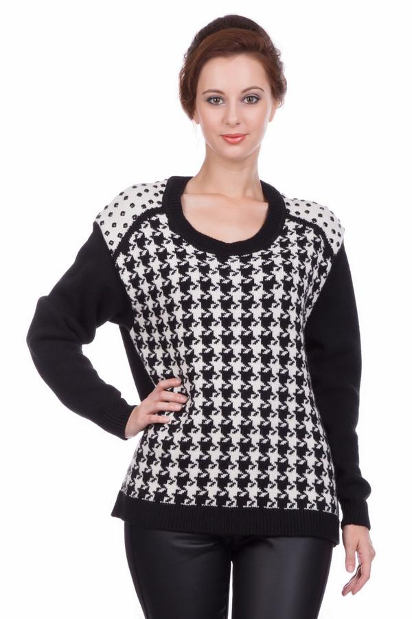 Пуловер SteilmannПуловеры<br><br><br>Размер RU: 42<br>Пол: Женский<br>Возраст: Взрослый<br>Материал: шерсть 10%, полиакрил 90%<br>Цвет: Белый