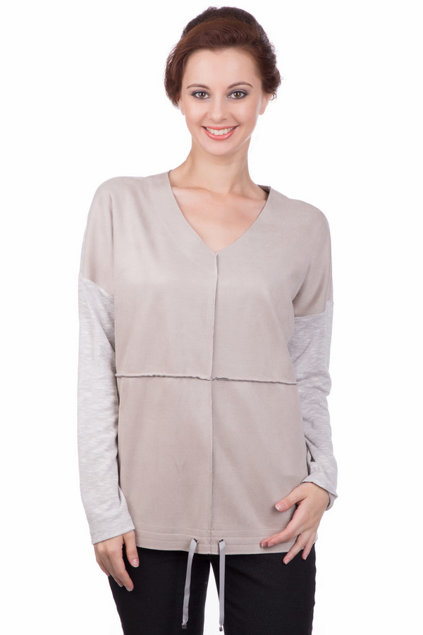Пуловер LecomteПуловеры<br><br><br>Размер RU: 44<br>Пол: Женский<br>Возраст: Взрослый<br>Материал: полиэстер 50%, хлопок 50%<br>Цвет: Серый