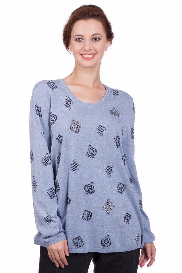 Пуловер Gerry WeberПуловеры<br><br><br>Размер RU: 46<br>Пол: Женский<br>Возраст: Взрослый<br>Материал: хлопок 100%<br>Цвет: Разноцветный