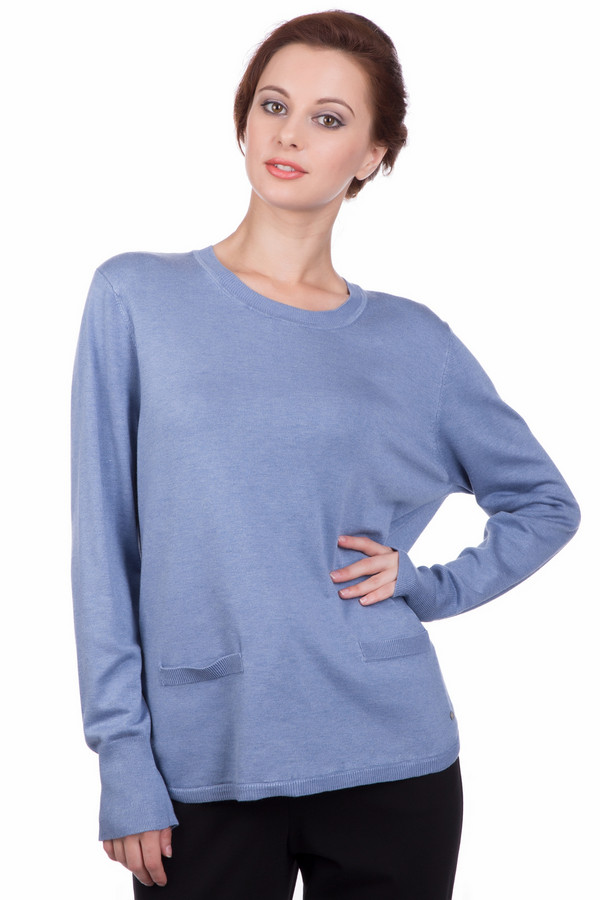 Пуловер Gerry WeberПуловеры<br><br><br>Размер RU: 46<br>Пол: Женский<br>Возраст: Взрослый<br>Материал: эластан 3%, полиамид 15%, вискоза 82%<br>Цвет: Синий