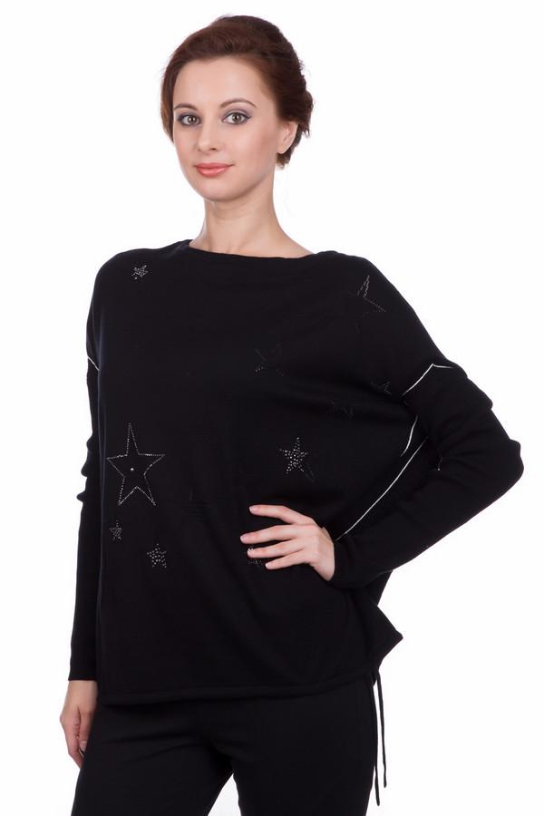 Пуловер OuiПуловеры<br><br><br>Размер RU: 44<br>Пол: Женский<br>Возраст: Взрослый<br>Материал: хлопок 100%<br>Цвет: Чёрный