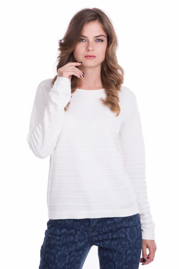 Пуловер OuiПуловеры<br><br><br>Размер RU: 48<br>Пол: Женский<br>Возраст: Взрослый<br>Материал: хлопок 100%<br>Цвет: Белый