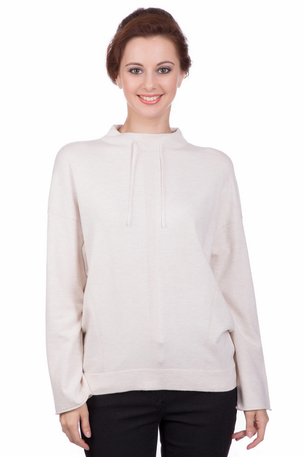 Пуловер OuiПуловеры<br><br><br>Размер RU: 48<br>Пол: Женский<br>Возраст: Взрослый<br>Материал: вискоза 70%, полиамид 30%<br>Цвет: Бежевый