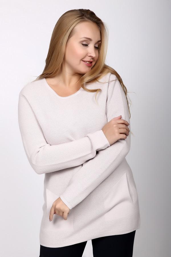 Пуловер PezzoПуловеры<br>Пуловер Pezzo светлого оттенка. Модель изысканная и очень элегантная. Карманы, выполненные другой вязкой, чем основная часть изделия, придают ему оригинальности и изящества. Удлиненный силуэт и округлый вырез горловины подчеркнут вашу женственность и естественную красоту. Состав: 100%-ная шерсть – идеально для демисезонных вещей.<br><br>Размер RU: 52<br>Пол: Женский<br>Возраст: Взрослый<br>Материал: шерсть 100%<br>Цвет: Белый