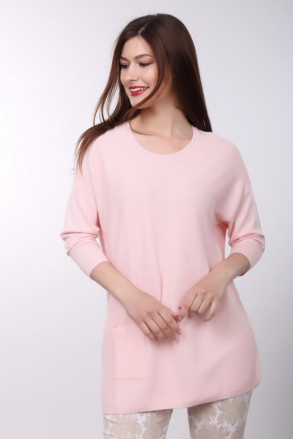 Пуловер PezzoПуловеры<br><br><br>Размер RU: 54<br>Пол: Женский<br>Возраст: Взрослый<br>Материал: шерсть 20%, полиамид 33%, вискоза 47%<br>Цвет: Розовый