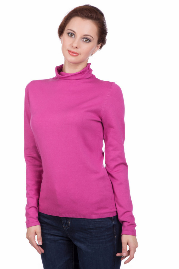 Пуловер PezzoПуловеры<br>Пуловер Pezzo цвета фуксия. Яркий сочный цвет этой модели – то, что запоминается и обращает на себя внимание. В таком пуловере просто невозможно грустить! Довольно свободный воротничок комфортен в носке, он согреет шею, но вместе с тем не будет стеснять ее движений. Состав: вискоза и полиамид.<br><br>Размер RU: 46<br>Пол: Женский<br>Возраст: Взрослый<br>Материал: полиамид 32%, вискоза 68%<br>Цвет: Розовый