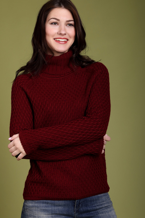 Пуловер PezzoПуловеры<br><br><br>Размер RU: 42<br>Пол: Женский<br>Возраст: Взрослый<br>Материал: акрил 50%, шерсть мерино 50%<br>Цвет: Бордовый