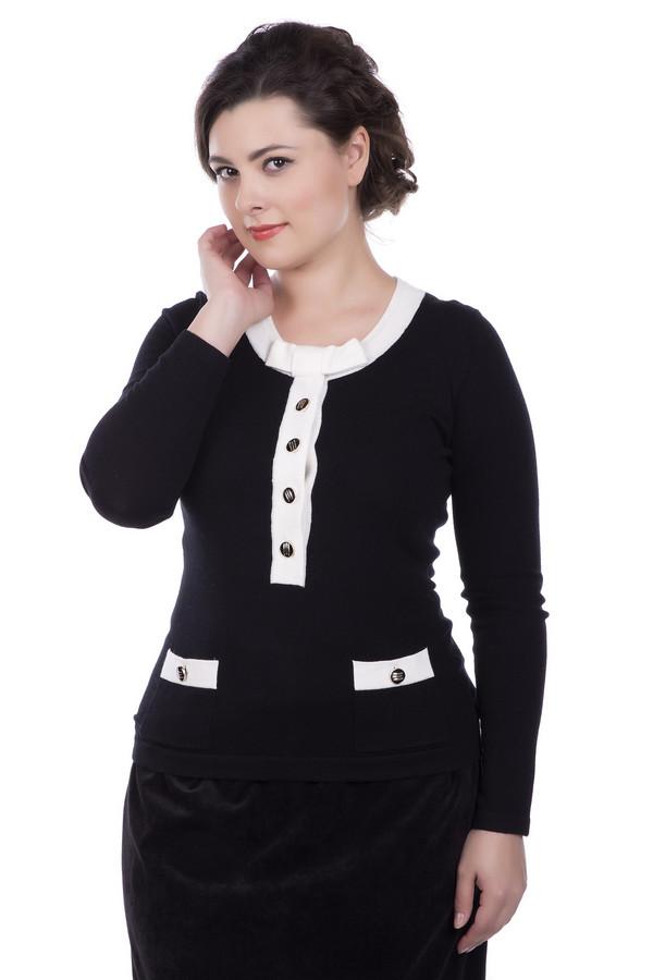 Пуловер PezzoПуловеры<br>Пуловер Pezzo черно-белый. Достаточно строгая модель, которую делают еще очаровательнее ее яркие детали: глубокая застежка-поло и края накладных карманов. Изящный бантик спереди обращает на себя внимание и выглядит действительно обворожительно. Состав: вискоза, полиамид, шерсть. Демисезонная вещь для офиса и не только.<br><br>Размер RU: 52<br>Пол: Женский<br>Возраст: Взрослый<br>Материал: шерсть 20%, полиамид 33%, вискоза 47%<br>Цвет: Белый