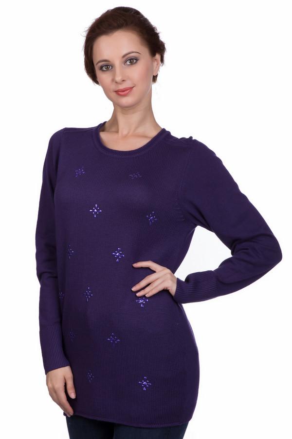 Пуловер PezzoПуловеры<br>Пуловер Pezzo темно-фиолетового оттенка. Перед этой простой, но вместе с тем милой модели украшает декор, что делает ее еще более желанной. Длинный рукав и округлый вырез горловины – примечательные черты предлагаемого изделия. Рекомендуем носить эту вещь вместе с юбками и брюками самого разного кроя. Состав: вискоза, полиамид, шерсть. Удлиненный силуэт и темный цвет этого пуловера делает фигуру еще стройнее и изящнее.<br><br>Размер RU: 48<br>Пол: Женский<br>Возраст: Взрослый<br>Материал: вискоза 49%, шерсть 20%, полиамид 31%<br>Цвет: Фиолетовый