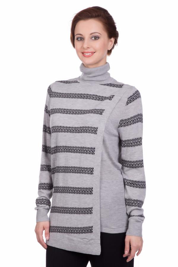 Пуловер PezzoПуловеры<br>Пуловер Pezzo в полоску. Светло-серый оттенок этой необычной вещи – хорошее дизайнерское решение для самых разных ансамблей. Демисезонный пуловер в полоску асимметричного кроя – выбор настоящих модниц, ценящих комфорт и удобство на каждый день. Состав: вискоза, полиамид, шерсть, акрил. Особенно выигрышно комбинируется с брюками, в частности – джинсами.<br><br>Размер RU: 44<br>Пол: Женский<br>Возраст: Взрослый<br>Материал: полиамид 15%, акрил 45%, шерсть 25%, вискоза 15%<br>Цвет: Чёрный