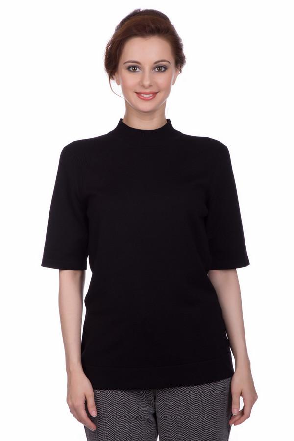 Пуловер PezzoПуловеры<br><br><br>Размер RU: 44<br>Пол: Женский<br>Возраст: Взрослый<br>Материал: полиамид 32%, вискоза 68%<br>Цвет: Чёрный