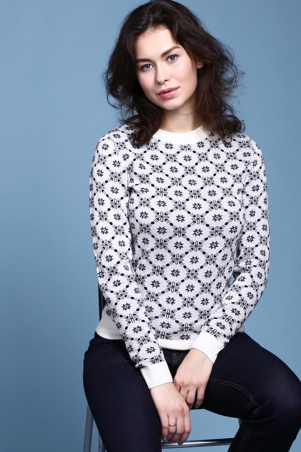 Пуловер PezzoПуловеры<br>Пуловер Pezzo  бело-синий . Некрупный орнамент по всему полотну этой модели просто очарователен. Однотонные манжеты, низ и округлый вырез горловины чудесно оттеняют пестрые узоры его основной части. Состав: вискоза, полиамид, шерсть, акрил. Вы можете носить это изделие зимой, восхищая своим видом всех окружающих. Рекомендуем сочетать его с однотонными юбками и брюками.<br><br>Размер RU: 52<br>Пол: Женский<br>Возраст: Взрослый<br>Материал: полиамид 15%, акрил 45%, шерсть 25%, вискоза 15%<br>Цвет: Чёрный