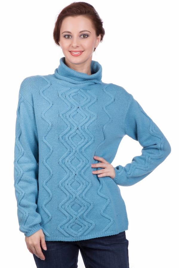 Пуловер PezzoПуловеры<br>Пуловер Pezzo голубого оттенка. Стильный зигзагообразный узор в вертикальном направлении сделает вас еще более стройной! Высокий воротник защитит от ветра и непогоды, даря комфорт и обеспечивая тепло. Яркий, но очень гармоничный оттенок превосходно сочетается с самыми разными вещами, позволяя вам создавать все новые ансамбли. Состав: хлопок, полиамид, шерсть.<br><br>Размер RU: 50<br>Пол: Женский<br>Возраст: Взрослый<br>Материал: шерсть 5%, полиамид 47%, хлопок 48%<br>Цвет: Голубой