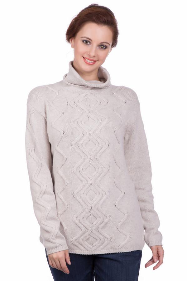 Пуловер PezzoПуловеры<br>Пуловер Pezzo бежевого оттенка. Стильный зигзагообразный узор в вертикальном направлении сделает вас еще более стройной! Высокий воротник защитит от ветра и непогоды, даря комфорт и обеспечивая тепло. Очень гармоничный оттенок превосходно сочетается с самыми разными вещами, позволяя вам создавать все новые ансамбли. Состав: хлопок, полиамид, шерсть.<br><br>Размер RU: 52<br>Пол: Женский<br>Возраст: Взрослый<br>Материал: шерсть 5%, полиамид 47%, хлопок 48%<br>Цвет: Серый