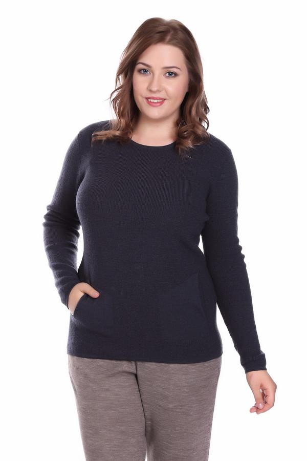 Пуловер PezzoПуловеры<br>Пуловер Pezzo темно-серого оттенка. Модель изысканная и очень элегантная. Карманы, выполненные другой вязкой, чем основная часть изделия, придают ему оригинальности и изящества. Удлиненный силуэт и округлый вырез горловины подчеркнут вашу женственность и естественную красоту. Состав: 100%-ная шерсть – идеально для демисезонных вещей.<br><br>Размер RU: 52<br>Пол: Женский<br>Возраст: Взрослый<br>Материал: шерсть 100%<br>Цвет: Синий