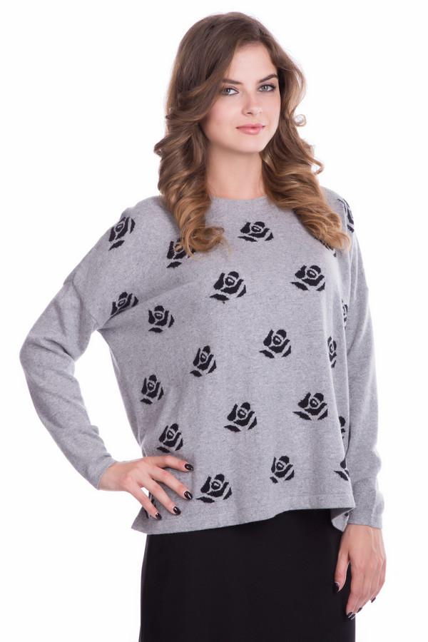 Пуловер PezzoПуловеры<br>Пуловер Pezzo светло-серого оттенка. Необычный свободный фасон и сдержанная расцветка со стилизованным растительным орнаментом – это формула успеха предлагаемого изделия. Однотонная спинка и рукава оттеняют перед с рисунком, а потому эта вещь очень гармонична и в то же время оригинальна. Состав: полиамид, вискоза, хлопок, кашемир, шерсть мерино.<br><br>Размер RU: 50<br>Пол: Женский<br>Возраст: Взрослый<br>Материал: хлопок 18%, полиамид 23%, вискоза 37%, кашемир 4%, шерсть мерино 18%<br>Цвет: Чёрный