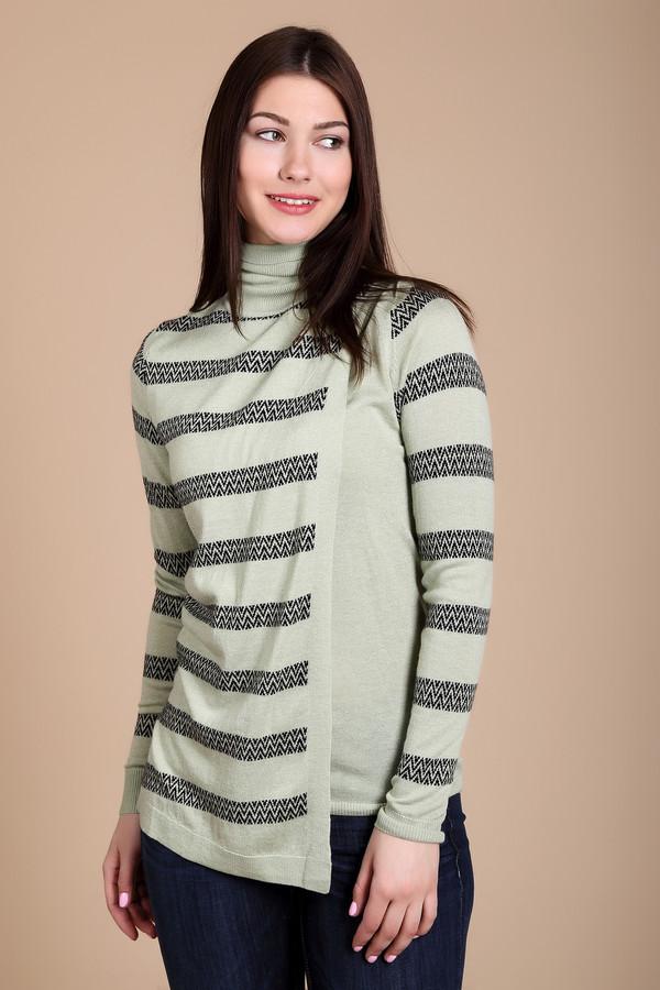 Пуловер PezzoПуловеры<br>Пуловер Pezzo зелено-черный. Зигзаги на горизонтальных полосках этого изделия –отличный выбор для того, чтобы не сливаться с толпой и быть яркой и стильной. Однотонные элементы (манжеты, вставки на лифе и воротничок) создают впечатление двух вещей, надетых друг на друга. Волшебная модель для самых разных поводов. На зиму лучше вам не найти. Состав: акрил, шерсть, вискоза и полиамид.<br><br>Размер RU: 52<br>Пол: Женский<br>Возраст: Взрослый<br>Материал: полиамид 15%, акрил 45%, шерсть 25%, вискоза 15%<br>Цвет: Чёрный