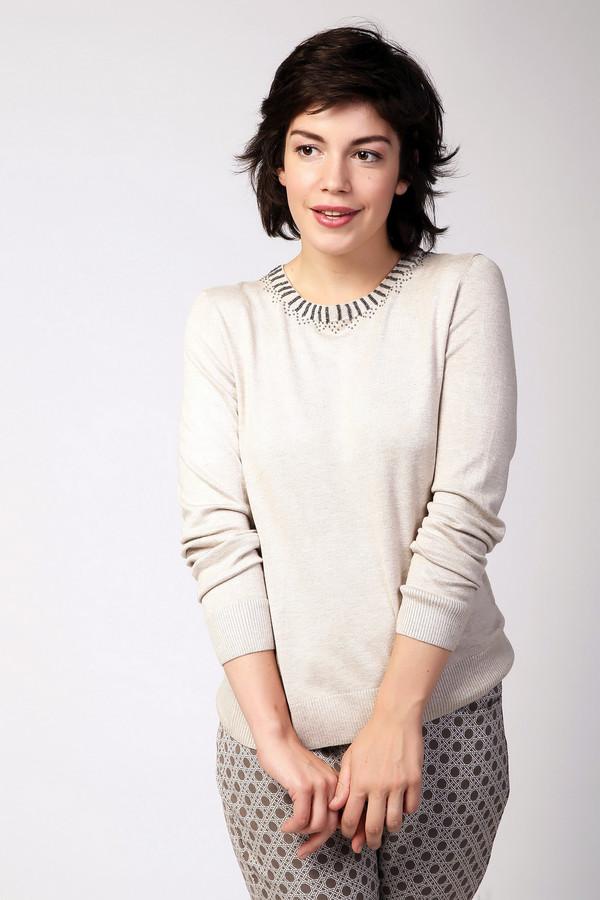 Пуловер PezzoПуловеры<br>Пуловер Pezzo светло-бежевого оттенка. Просто, строго и очень элегантно – вот что можно сказать об этой модели. Красивая посадка и стройнящий пастельный цвет – еще одна веская причина, по которой наши покупательницы выбирают именно эту модель. Красивый декор выреза горловины, несомненно, не останется без внимания. Вещь для тех, кто любит скромный шик и сдержанную изысканность. Состав: эластан, вискоза и полиамид.<br><br>Размер RU: 52<br>Пол: Женский<br>Возраст: Взрослый<br>Материал: эластан 3%, полиамид 16%, вискоза 81%<br>Цвет: Бежевый