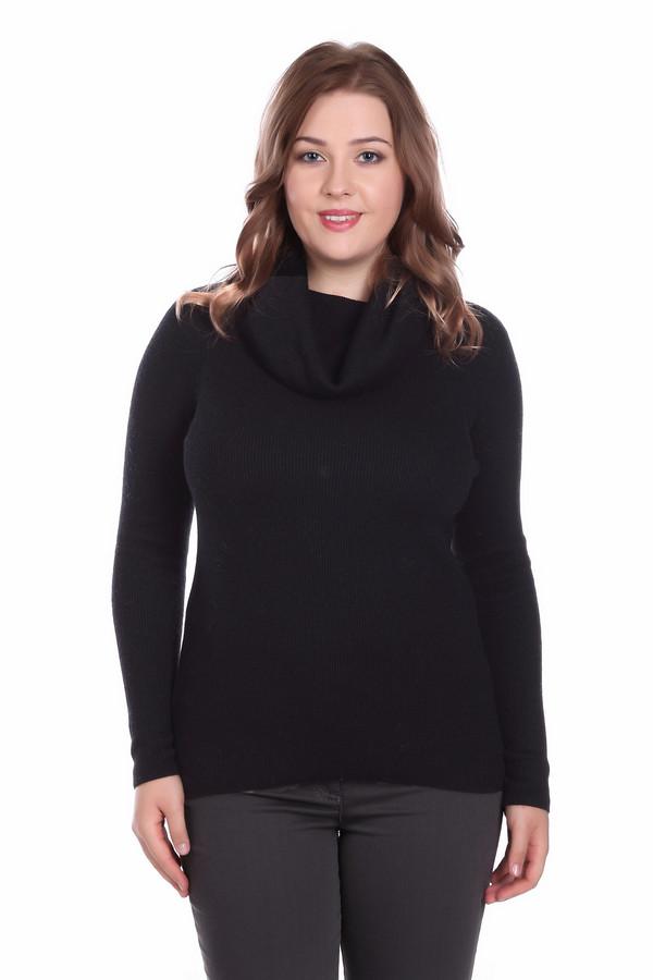 Пуловер PezzoПуловеры<br><br><br>Размер RU: 44<br>Пол: Женский<br>Возраст: Взрослый<br>Материал: вискоза 49%, шерсть 20%, полиамид 31%<br>Цвет: Чёрный