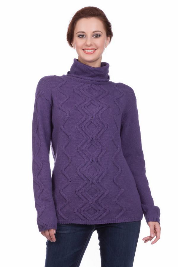Пуловер PezzoПуловеры<br>Пуловер Pezzo фиолетового оттенка. Стильный зигзагообразный узор в вертикальном направлении сделает вас еще более стройной! Высокий воротник защитит от ветра и непогоды, даря комфорт и обеспечивая тепло. Очень гармоничный оттенок превосходно сочетается с самыми разными вещами, позволяя вам создавать все новые ансамбли. Состав: хлопок, полиамид, шерсть.<br><br>Размер RU: 42<br>Пол: Женский<br>Возраст: Взрослый<br>Материал: шерсть 5%, полиамид 47%, хлопок 48%<br>Цвет: Фиолетовый