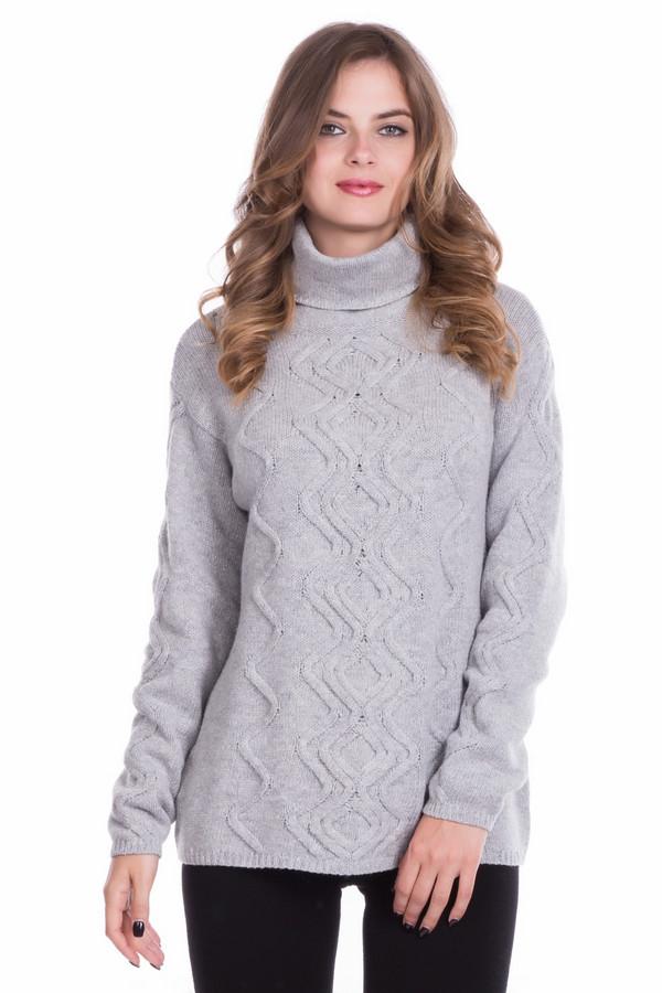 Пуловер PezzoПуловеры<br><br><br>Размер RU: 46<br>Пол: Женский<br>Возраст: Взрослый<br>Материал: шерсть 5%, полиамид 47%, хлопок 48%<br>Цвет: Серый