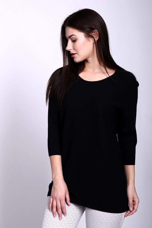 Пуловер PezzoПуловеры<br>Пуловер Pezzo черного оттенка. Эта стильная модель удлиненного силуэта с накладным карманом выглядит просто безупречно. Ее легкая асимметрия и укороченные рукава создают свой неповторимый шарм. Отменный выбор для тех, кто хочет быть всегда самой желанной и современной. Состав: вискоза, полиамид, шерсть. Чудесно сочетается с брюками и юбками.<br><br>Размер RU: 46<br>Пол: Женский<br>Возраст: Взрослый<br>Материал: шерсть 20%, полиамид 33%, вискоза 47%<br>Цвет: Чёрный