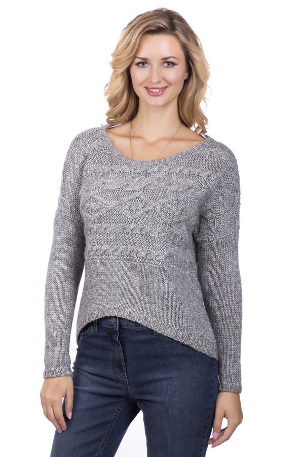 Пуловер SIR OliverПуловеры<br><br><br>Размер RU: 50<br>Пол: Женский<br>Возраст: Взрослый<br>Материал: хлопок 58%, шерсть 21%, полиакрил 21%<br>Цвет: Серый