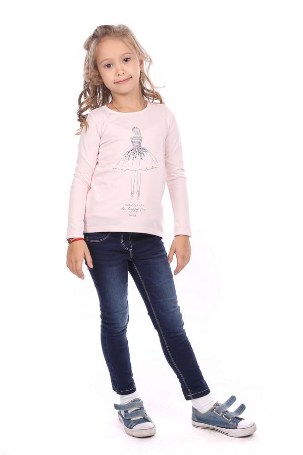 поло tom tailor для девочки, розовое