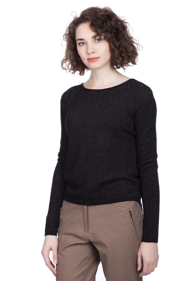 Пуловер PassportПуловеры<br><br><br>Размер RU: 40/42<br>Пол: Женский<br>Возраст: Взрослый<br>Материал: шерсть 45%, полиакрил 45%, металл 10%<br>Цвет: Чёрный