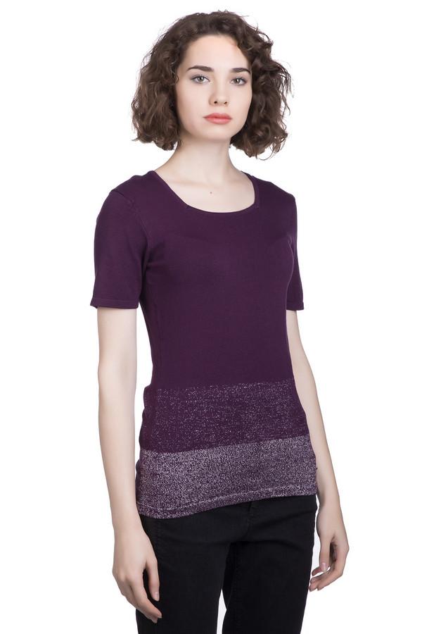 Пуловер SteilmannПуловеры<br><br><br>Размер RU: 42<br>Пол: Женский<br>Возраст: Взрослый<br>Материал: полиамид 18%, вискоза 72%, металл 10%<br>Цвет: Фиолетовый