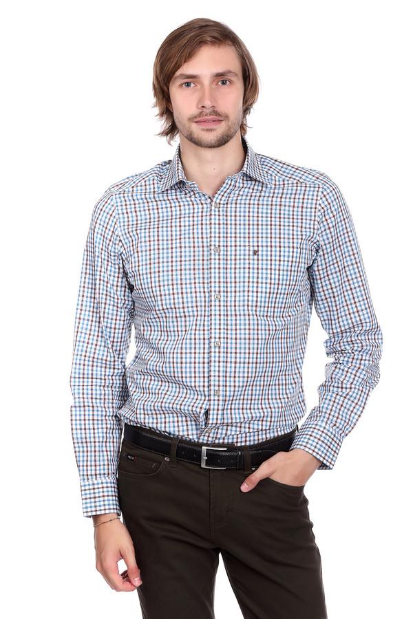 Рубашка с длинным рукавом PezzoДлинный рукав<br>Рубашка с длинным рукавом Pezzo. Клетка – тренд уже далеко не одного сезона. Гармоничный рисунок придает этому изделию очарования и шарма. Застежка на мелкие пуговицы и накладной нагрудный карман очень функциональны – вам, несомненно, понравится быть в центре внимания и выглядеть на все 100 на бизнес-встрече или на романтическом свидании. Состав: 100%-ный хлопок.<br><br>Размер RU: 42<br>Пол: Мужской<br>Возраст: Взрослый<br>Материал: хлопок 100%<br>Цвет: Разноцветный