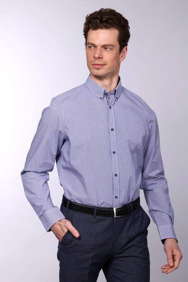 Рубашка с длинным рукавом Just ValeriДлинный рукав<br><br><br>Размер RU: 43<br>Пол: Мужской<br>Возраст: Взрослый<br>Материал: хлопок 100%<br>Цвет: Синий