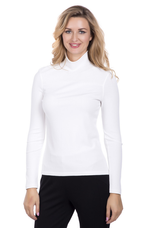 женский пуловер marc cain, белый
