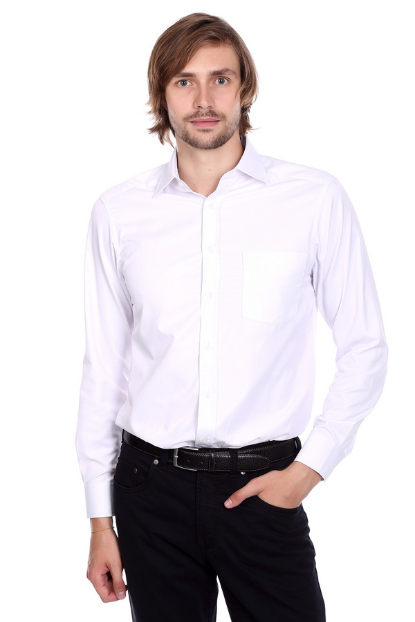 Рубашка с длинным рукавом PezzoДлинный рукав<br>Рубашка с длинным рукавом Pezzo мужская белая. Элегантная рубашка белого цвета подойдёт любому мужчине и подчеркнёт его безупречный вкус. В ней можно ходить не только на праздничные вечеринки, но и на работу, вы всегда будете в центре внимания. Оптимальное сочетание натурального и искусственного материала позволит вам чувствовать себя очень комфортно. Состав: полиэстер, хлопок.<br><br>Размер RU: 39<br>Пол: Мужской<br>Возраст: Взрослый<br>Материал: хлопок 44%, полиэстер 56%<br>Цвет: Белый