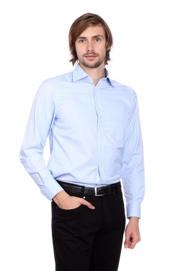 Рубашка с длинным рукавом PezzoДлинный рукав<br><br><br>Размер RU: 44<br>Пол: Мужской<br>Возраст: Взрослый<br>Материал: хлопок 44%, полиэстер 56%<br>Цвет: Голубой
