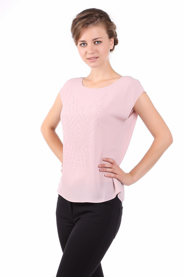 Блузa PezzoБлузы<br><br><br>Размер RU: 52<br>Пол: Женский<br>Возраст: Взрослый<br>Материал: полиэстер 100%<br>Цвет: Розовый