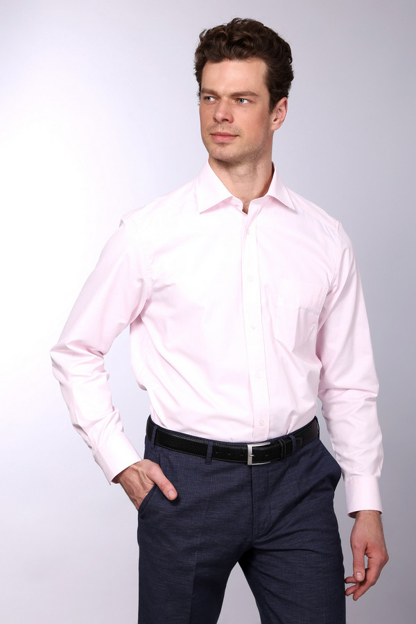 Рубашка с длинным рукавом PezzoДлинный рукав<br>Рубашка с длинным рукавом Pezzo мужская розового оттенка. Элегантная рубашка светлого цвета подойдёт любому мужчине и подчеркнёт его безупречный вкус. В ней можно ходить не только на праздничные вечеринки, но и на работу, вы всегда будете в центре внимания. Оптимальное сочетание натурального и искусственного материала позволит вам чувствовать себя очень комфортно. Состав: полиэстер, хлопок.<br><br>Размер RU: 40<br>Пол: Мужской<br>Возраст: Взрослый<br>Материал: хлопок 44%, полиэстер 56%<br>Цвет: Розовый