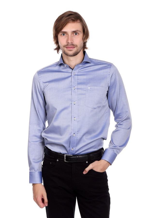 Рубашка с длинным рукавом Casa ModaДлинный рукав<br><br><br>Размер RU: 44<br>Пол: Мужской<br>Возраст: Взрослый<br>Материал: хлопок 100%<br>Цвет: Синий