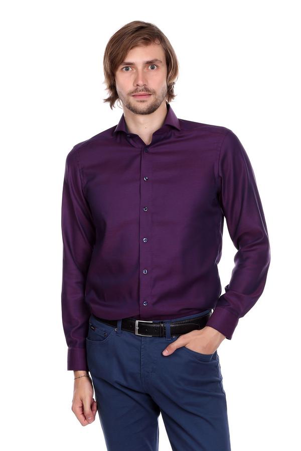 Рубашка с длинным рукавом OlympДлинный рукав<br><br><br>Размер RU: 40<br>Пол: Мужской<br>Возраст: Взрослый<br>Материал: хлопок 100%<br>Цвет: Фиолетовый