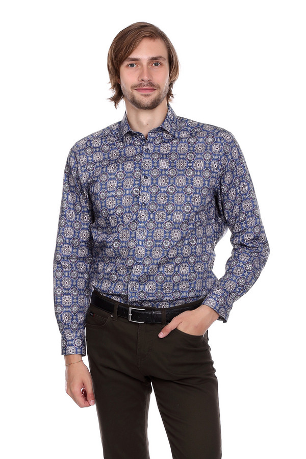 Рубашка с длинным рукавом OlympДлинный рукав<br><br><br>Размер RU: 44<br>Пол: Мужской<br>Возраст: Взрослый<br>Материал: хлопок 100%<br>Цвет: Разноцветный