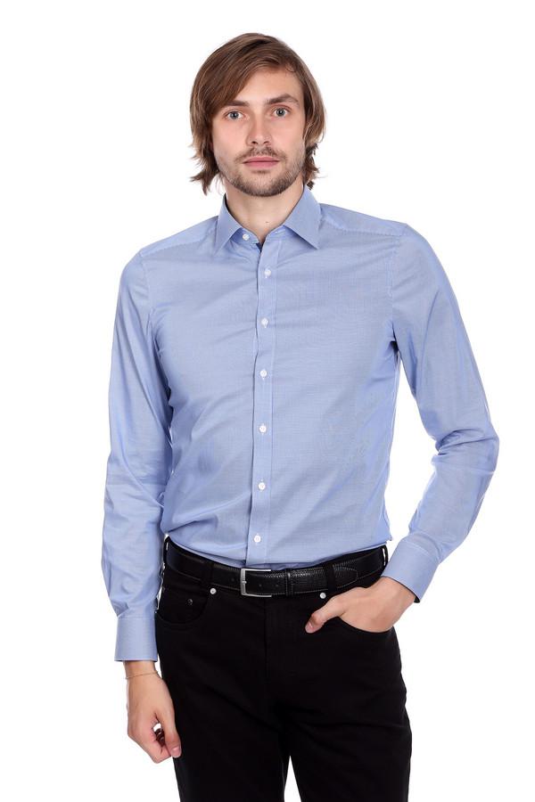 Рубашка с длинным рукавом OlympДлинный рукав<br><br><br>Размер RU: 41<br>Пол: Мужской<br>Возраст: Взрослый<br>Материал: эластан 3%, хлопок 97%<br>Цвет: Голубой