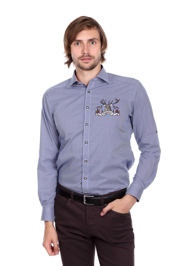 Рубашка с длинным рукавом OlympДлинный рукав<br><br><br>Размер RU: 43<br>Пол: Мужской<br>Возраст: Взрослый<br>Материал: хлопок 100%<br>Цвет: Разноцветный